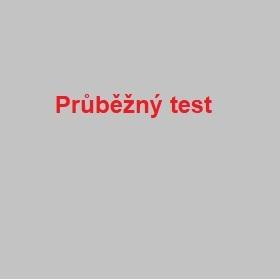 Průběžný test
